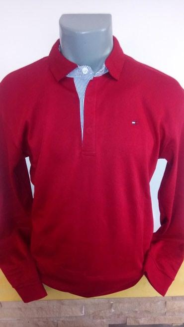 Tommy Hilfiger jednobojna pamucna bluzica sa kragnicom. Dostupna samo - Novi Banovci