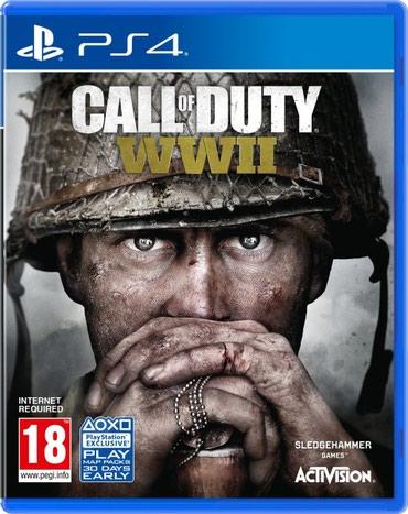 Bakı şəhərində Ps4 üçün Call of duty WW2 oyun diski satılır