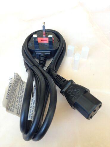 серверы 02 в Кыргызстан: Силовой кабель приборного питания I-SHENG SP-62 Длина 1.5 метра UK BS