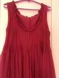 Haljina-marke - Srbija: Prelepa svilena pink haljina italijanske marke,italijanski broj