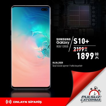 Yeni Samsung Galaxy S10 Plus 128 GB qara