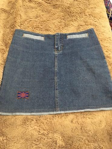 Джинсовая юбка б/у в хорошем состоянии 44 размер в Кант