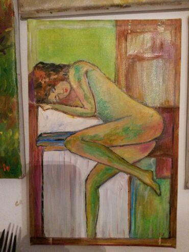 Slike   Sopot: Ulje na platnu. Bogat nanos boje.30x20. Autor Iv. Tel