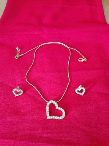 Personalni proizvodi | Jagodina: Komplet minđuše i ogrlica šaljem brzom poštom
