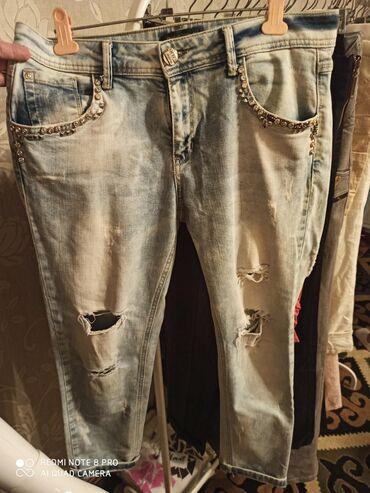 Турецкая джинсы бойфренд.размер 44-46-48 надо мерить. 500 сом.покупал