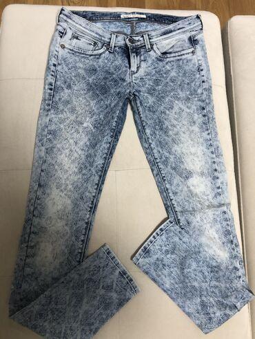 Ženske farmerke - Upotrebljen - Beograd: Pepe Jeans farmerke, sa printom, bez tragova nosenja.  Udoban materija