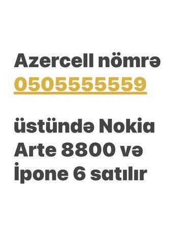 Мобильные телефоны и аксессуары - Азербайджан: Tək-tək satılmır. VİP Mobil nömrə Nokia Arte+İpone 6