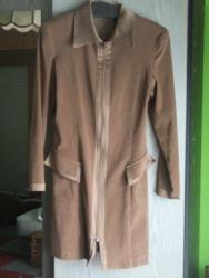 Braon - Srbija: Kvalitetna, elegantna haljina, postavljena iznutra, od veoma