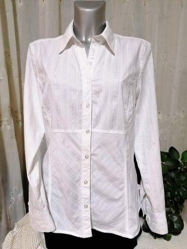 Cecil bela košulja, L vel, kao nova.  63% pamuk, 34% poliester, 3% el