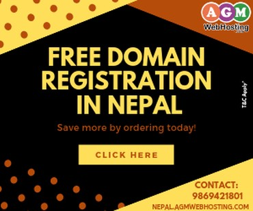 Free Domain Registration in Nepal - AGM Web Hosting in Kathmandu