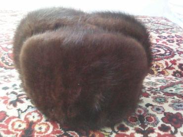 Мужская шапка в отличном состоянии. мех андатры. в Бишкек