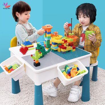leqo - Azərbaycan: Salam dostlar uşaqlarınız üçün leqo oyun stolu Daxildir bir stol,1stul
