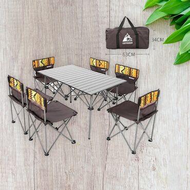 Кемпинговый набор с 6 стульями. Бренд PULL BEAR-Отлично подходит на