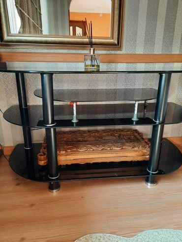 продам кухонный стол in Кыргызстан | СТОЛЫ: Продаю стол со стульями(6 шт) и стеклянный стол