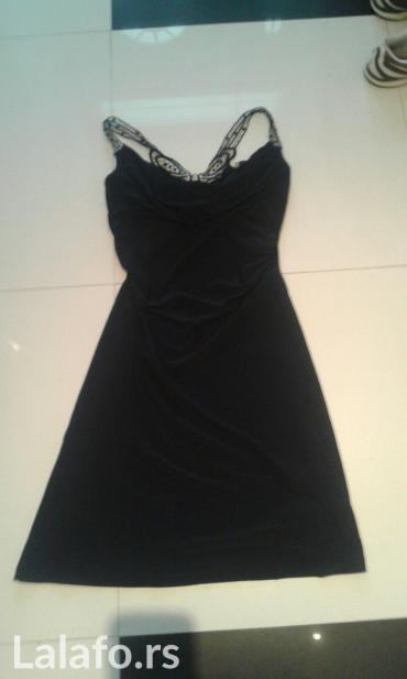 crna svecana haljina univerzalna velicina sa leptirom na ledjima - Backa Palanka