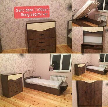 гарнитур для спальни в Азербайджан: Genc otagi desti 1100azn