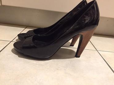 Zara woman μαύρα λουστρίνια peeptoes με τακούνι από ξύλο . Αφόρετα.  σε Υπόλοιπο Αττικής - εικόνες 7