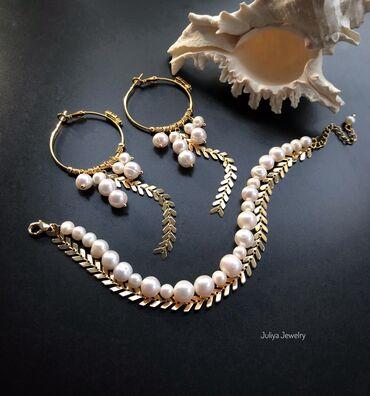 Браслеты набор - Кыргызстан: Комплект ручной работы. Авторские украшения Juliya Jewelry.1)