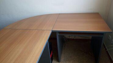 razmer 140 в Кыргызстан: Продаю офисные столы.Большой стол (140*80) Маленький стол (80*80)