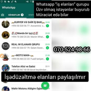 en son bagban is elanlari - Azərbaycan: Whatsapp is elanları qurupu