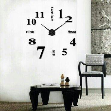 Bakı şəhərində Müasir 3d  dekor - divar saatl. Rəngi :  qara  /  mexanizm :