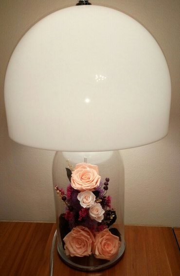 Лампа с живыми розами которые не завянут до 3 лет в Бишкек
