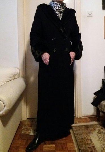 Novi amc crni maksi kaput. Kaput je od prvoklasnog materijala, - Novi Sad