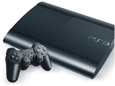 Bakı şəhərində Playstation 3 super slim 500GB yaddasi var... Yaddasinda 20 esas oyun