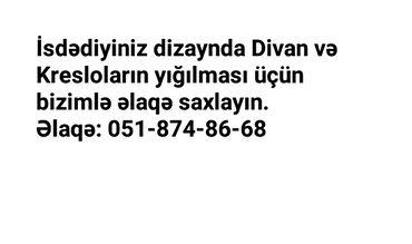 Zövqünüzə uyğun divan və kresloların münasib qiymətə yığılması. Künc