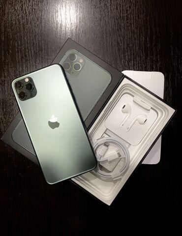 накладные наушники бишкек in Кыргызстан | НАУШНИКИ: IPhone 11 Pro Max | 64 ГБ | Зеленый Б/У | Face ID, С документами