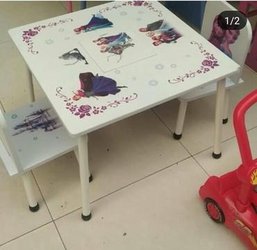 uşaq masaları - Azərbaycan: Usaq masa desti 2-6 yas 100 manat seher daxili catdirilma