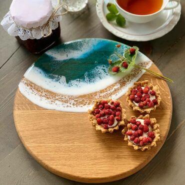 эпоксидная смола цена в баку в Азербайджан: Доска для сервировки холодных закусок,из дерева и эпоксидной смолы