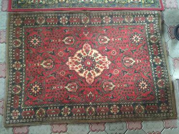 Шерстяные 2 ковра СССР1.3×1.8, красный 2000сВторой 1000с (есть разрез