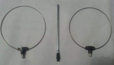 Tri sobne antene sa slike, dve-okrugle. jedna-štap antena na - Nova Pazova