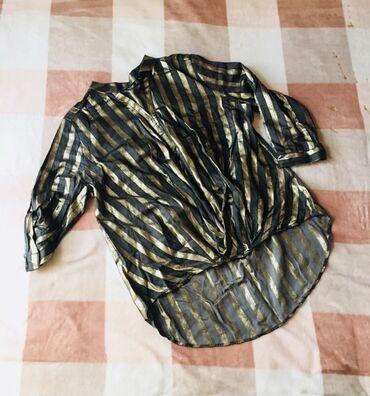 Блузка 44-46 размер  Новая рубашка-туника 42-44 размер, обмен