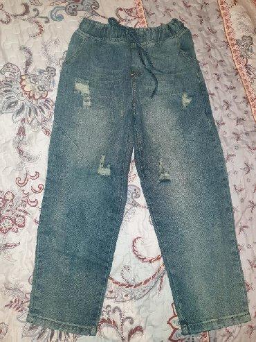 boyfriend в Кыргызстан: Стильные джинсовые штаны boyfriend. Абсолютно новые размер М