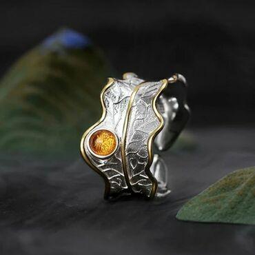 Кольцо из серебра 925 пробы с родиевым покрытием и