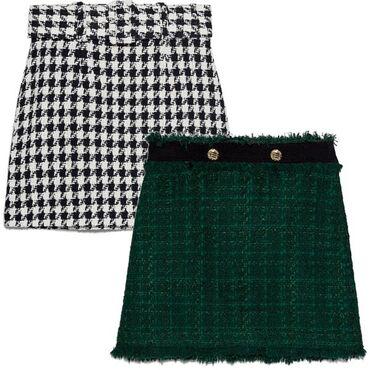 Юбки в Кыргызстан: Продаю юбку от Channel гусиная лапка черно белая оригинал новая