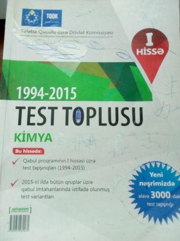 kimya - Azərbaycan: Kimya test toplusu 1 ci hissə içi səliqəli və təmizdir