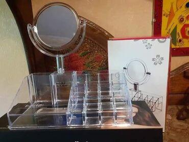 Ostalo - Velika Plana: Stalak za sminku sa dvostranim ogledalom Cena 1200 din