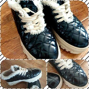 Флипчарты черная магнитная поверхность - Кыргызстан: Кроссовки с мехом. Теплые. Мягкая лаковая стеганная поверхность