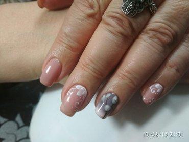 акция! маникюр+ шеллак+дизайн=350 сом, маникюр+наращивание ногтей геле в Бишкек