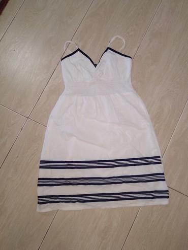 белое летнее платье в Кыргызстан: Короткое летнее платьебелое,40-42 размер,чистое