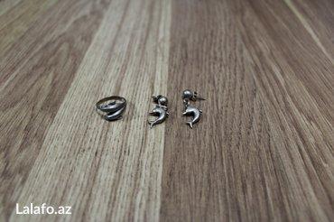 Bakı şəhərində серебро кольцо и серьги 925 проба надо почистить доставка до метро + 1
