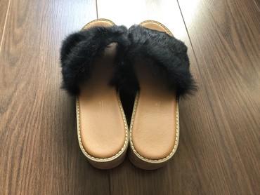 Papuce sa prirodnim krznom, vel 38, u odlicnom stanju - Beograd - slika 2