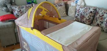 Продаю новую детскую кроватку- трансформер. Верхний матрас убирается