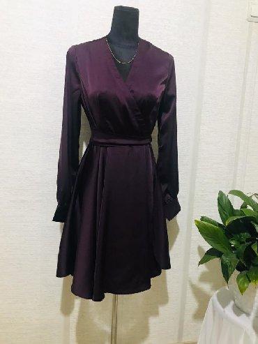 летнее платье с запахом в Кыргызстан: Супер красивое платье из атласа На запах