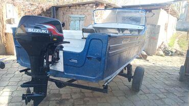 Водный транспорт - Кыргызстан: Продаю лодку с маторам Сузуки 15 Матор только апкатку прошол оба хорош