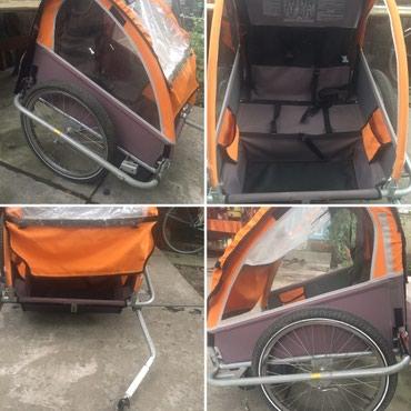велосипед с детской коляской в Кыргызстан: Прицеп,крепится к велосипеду,на 2 детских места.(Беловодское)