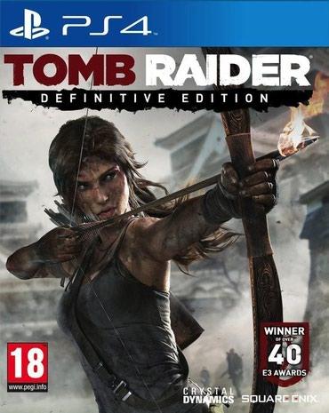 Bakı şəhərində Ps4 üçün Tomb Raider definitive edition oyun diski satılır Yenidir